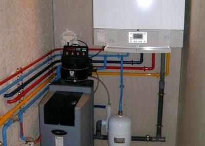 Pose d'une chaudière gaz à condensation avec production d'eau chaude sanitaire et adoucisseur d'eau à Chivres val 02880