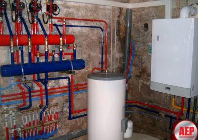 Réalisation d'un chauffage centrale au gaz avec production d'eau chaude sanitaire Pour un local commerciale et deux appartements à Soissons 02200